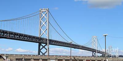 San Francisco Bay Bridge At The Embarcadero . 7d7716 Poster