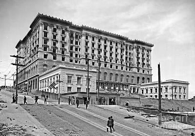 San Francisco Fairmount Hotel After 1906 Earthquake Poster