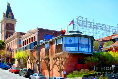 San Francisco Ghirardelli Chocolate Factory . 7d14093 Poster by Wingsdomain Art and Photography