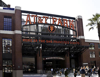San Francisco Giants Baseball Park Poster