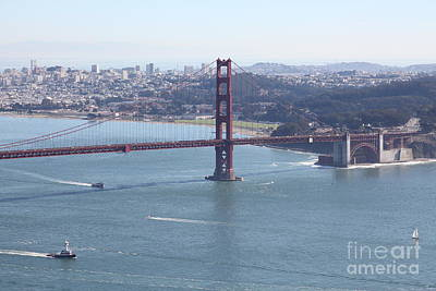San Francisco Golden Gate Bridge And Skyline Viewed From Hawk Hill In Marin - 5d19607 Poster