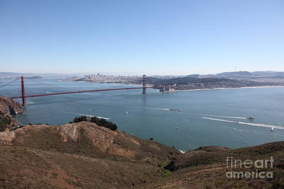 San Francisco Golden Gate Bridge And Skyline Viewed From Hawk Hill In Marin - 5d19614 Poster