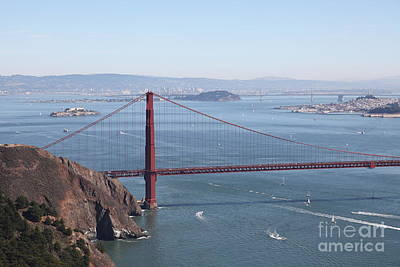 San Francisco Golden Gate Bridge And Skyline Viewed From Hawk Hill In Marin - 5d19628 Poster