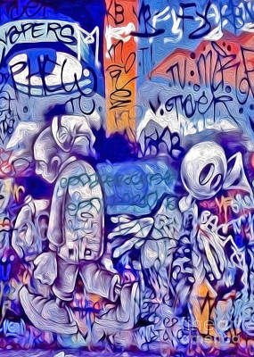 Poster featuring the photograph San Francisco Graffiti Park - 1 by Gregory Dyer
