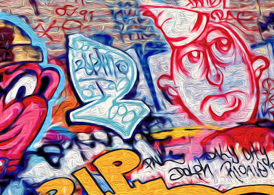 Poster featuring the photograph San Francisco Graffiti Park - 2 by Gregory Dyer