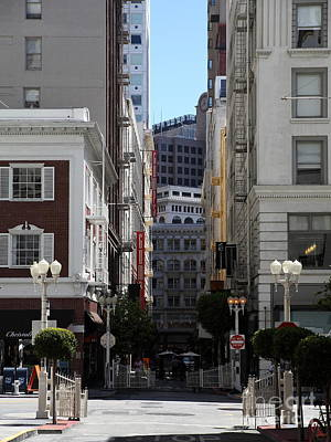 San Francisco Maiden Lane - 5d17059 Poster by Wingsdomain Art and Photography