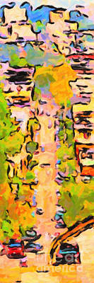 San Francisco Noe Street In Abstract Poster by Wingsdomain Art and Photography