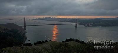 San Francisco On Cloudy Sunrise Poster by Matt Tilghman
