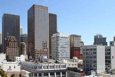 San Francisco Skyline . 7d7491 Poster by Wingsdomain Art and Photography