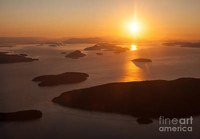 San Juan Islands Sunset Evening Poster