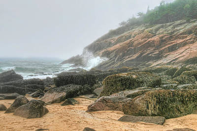 Sand Beach - Acadia Poster by Mary Hershberger