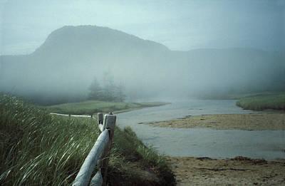 Sand Beach Fog Poster