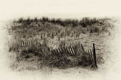 Sand Dune In Sepia Poster by Bill Cannon
