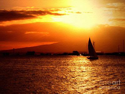 Sand Island Sunset 1 Poster