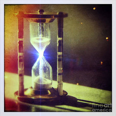 Sand Through Hourglass Poster