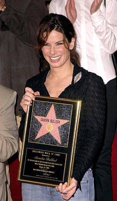Sandra Bullock At The Induction Poster by Everett