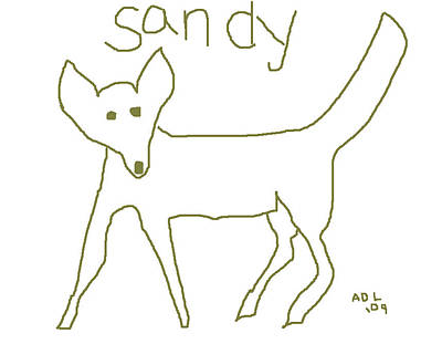 Sandy Poster by Anita Dale Livaditis