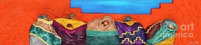 Santa Fe Circle Poster by Anne Klar
