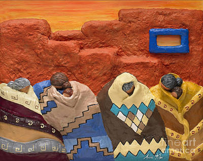 Santa Fe Dreaming Poster by Anne Klar