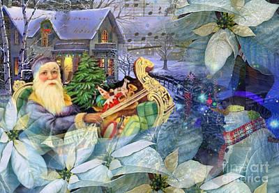 Santa In Blue Poster