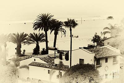 Santa Monica Beach House Poster by John Rizzuto