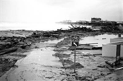 Santa Monica Beach Storm Poster by Joe  Palermo