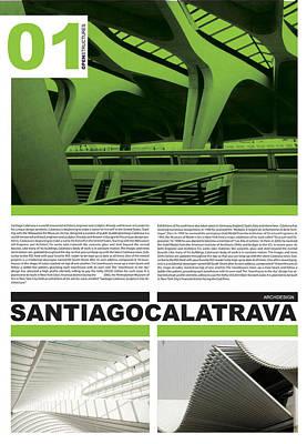Santiago Calatrava Poster Poster by Naxart Studio