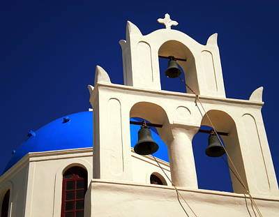 Poster featuring the photograph santorini Church Greee by Colette V Hera  Guggenheim