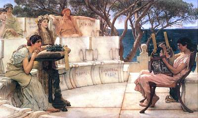 Sappho And Alcaeus Poster