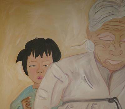 Sarang Halmoni- Grandmother Love Poster by Lorraine Toler