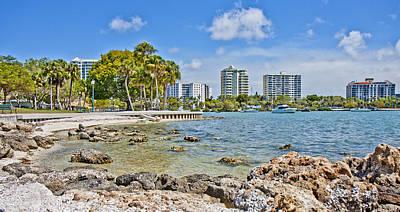 Sarasota Bayfront Paradise Poster by Betsy Knapp