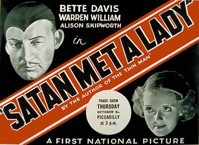 Satan Met A Lady, Warren William, Bette Poster