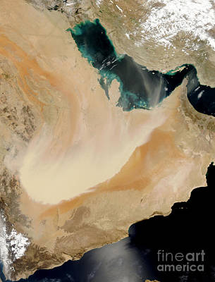 Satellite View Of A Dust Storm In Saudi Poster
