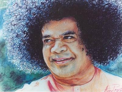 Sathya Sai Baba- Sai Blues And Greens Poster
