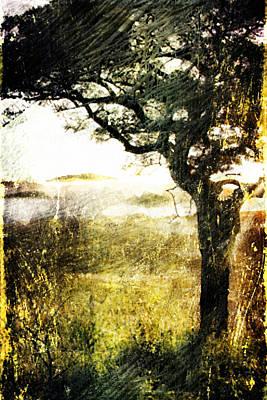 Poster featuring the digital art Savana by Andrea Barbieri