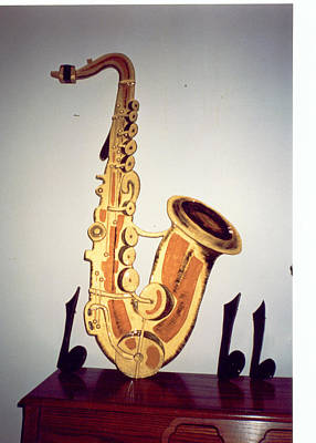 Saxaphone Poster by Val Oconnor