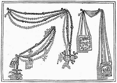 Scapular And Rosary Poster