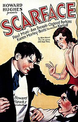 Scarface, Paul Muni, Ann Dvorak, Osgood Poster