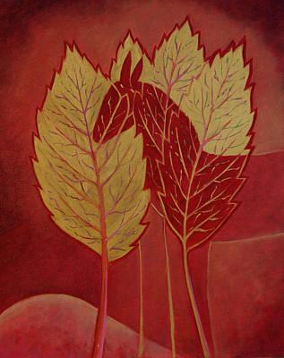Poster featuring the painting Scarlet Dream by Tone Aanderaa