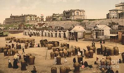 Scheveningen Beach And Hotels Poster