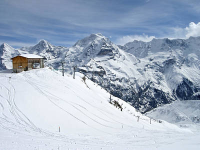 Schilthorn Ski Area Above Grindelwald, Switzerland Poster by Yvette Cardozo