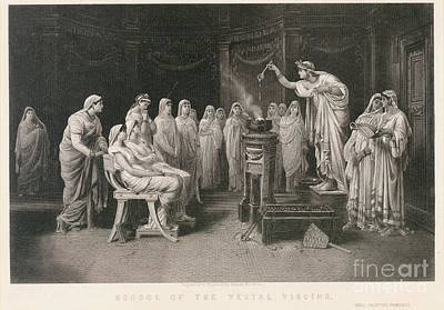 School Of Vestal Virgins Poster by Granger