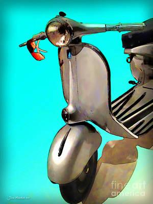 Scooter Poster by Joan  Minchak