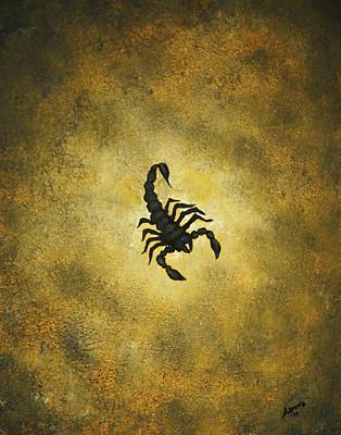 Poster featuring the painting Scorpion by Edwin Alverio