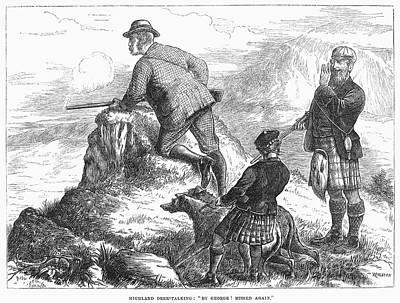 Scotland: Deer Hunt, 1871 Poster