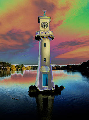 Poster featuring the photograph Scott Memorial Roath Park Cardiff 4 by Steve Purnell