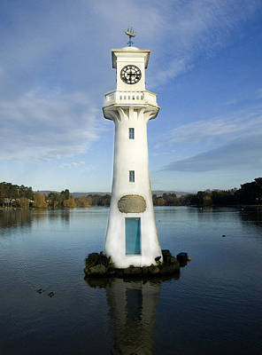 Poster featuring the photograph Scott Memorial Roath Park Cardiff by Steve Purnell