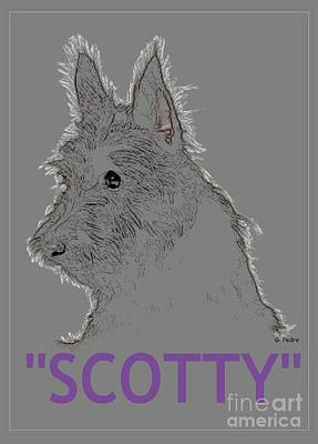 Scotty Poster by George Pedro