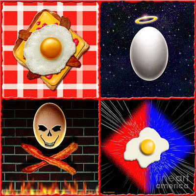 Scrambled Eggs Poster by Cristophers Dream Artistry