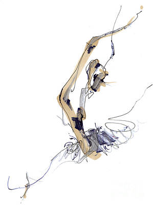 Sculpting Ballet Poster by Lousine Hogtanian
